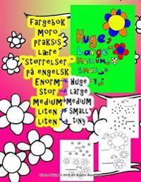 Fargebok Stor Medium Liten Lære Størrelser På Engelsk Til Barn Alle Hvem ønsker Å Lære Engelsk