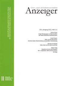 Geistes-, Sozial-Und Kulturwissenschaftlicher Anzeiger 150. Jahrgang, Heft 1+2 2015