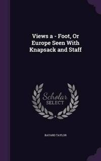 Views a Foot or Europe Seen with Knapsack and Staff