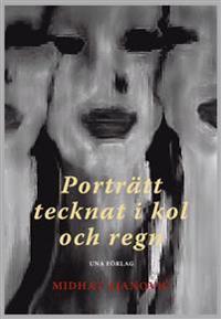 Porträtt tecknat i kol och regn