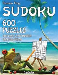 Famous Frog Sudoku 600 Puzzles with Solutions. 300 Easy and 300 Medium: A Beach Bum Sudoku Series Book