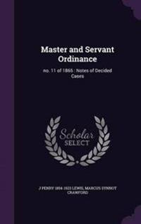 Master and Servant Ordinance