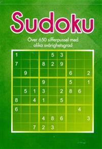 Sudoku : över 650 sifferpussel med olika svårighetsgrad