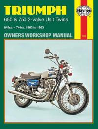 Triumph 650 and 750 2-valve Twins Owners Workshop Manual, No. 122