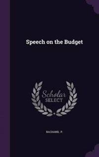 Speech on the Budget