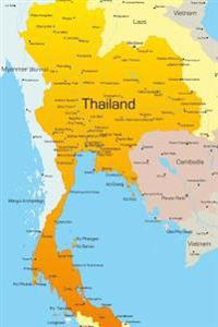 Map of Thailand Journal: 150 Page Lined Notebook/Diary