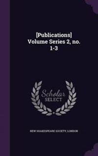 [Publications] Volume Series 2, No. 1-3