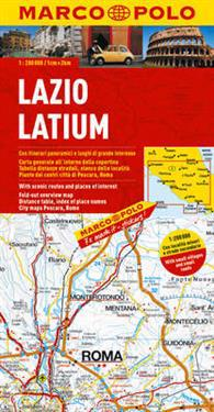 Italy - Lazio (Latium) Marco Polo Map