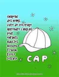 Chapeau Des Noms Livre de Coloriage Apprendre L'Anglais Pour Enfants Adultes Accueil Travail Ecole Retraite