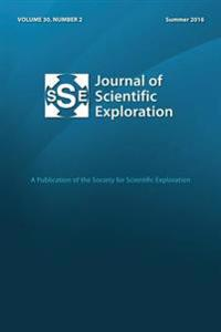 Jse 30: 2 Journal of Scientific Exploration