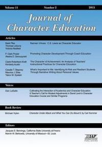 Journal of Character Education, Issue #2 Vol. 11