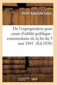 de L'Expropriation Pour Cause D'Utilite Publique