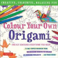 Colour Your Own Origami Kit - British Spelling