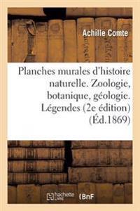 Planches Murales D'Histoire Naturelle. Zoologie, Botanique, Geologie. Legendes. 2e Edition Publiee