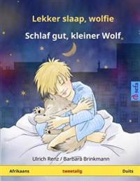Lekker Slaap, Wolfie - Schlaf Gut, Kleiner Wolf. Tweetalige Kinderboek (Afrikaans - Duits)