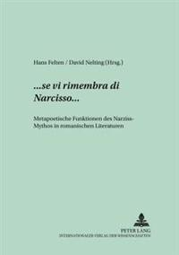 ...«se VI Rimembra Di Narcisso»...: Metapoetische Funktionen Des Narziss-Mythos in Romanischen Literaturen