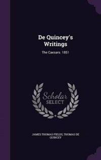 de Quincey's Writings