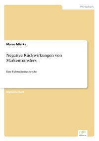 Negative Ruckwirkungen Von Markentransfers