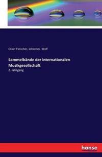 Sammelbande Der Internationalen Musikgesellschaft