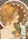 Carnet Blanc, Affiche Mucha, La Plume