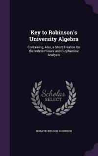 Key to Robinson's University Algebra