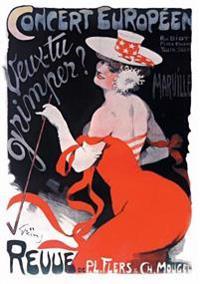 """Carnet Blanc, Affiche Revue """"veux-Tu Grimper ?"""""""