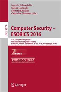 Computer Security - ESORICS 2016