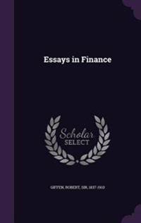 Essays in Finance