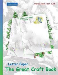 Brockhausen: Letter Paper - The Great Craft Book: Happy New Year 2016