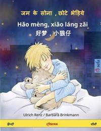 Sleep Tight, Little Wolf. Bilingual Children's Book (Hindi - Chinese)