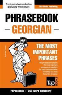 English-Georgian Phrasebook and 250-Word Mini Dictionary