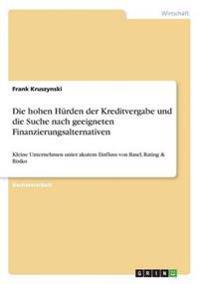 Die Hohen Hurden Der Kreditvergabe Und Die Suche Nach Geeigneten Finanzierungsalternativen
