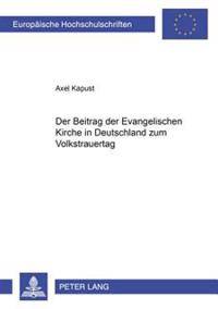 Der Beitrag Der Evangelischen Kirche in Deutschland Zum Volkstrauertag