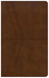 KJV Ultrathin Reference Bible, Brown Deluxe Leathertouch, Indexed