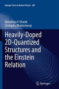Heavily-doped 2d-quantized Structures and the Einstein Relation