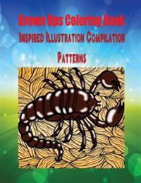 Grown Ups Coloring Book Inspired Illustration Compilation Patterns