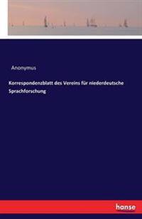 Korrespondenzblatt Des Vereins Fur Niederdeutsche Sprachforschung