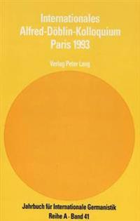 Internationales Alfred-Doeblin-Kolloquium Paris 1993