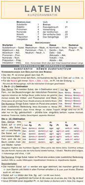 Latein - Kurzgrammatik: Die komplette Grammatik anschaulich und verständlich dargestellt