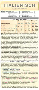Italienisch - Kurzgrammatik: Die komplette Grammatik anschaulich und verständlich dargestellt