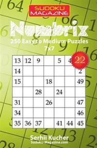 Numbrix - 250 Easy to Medium Puzzles 7x7