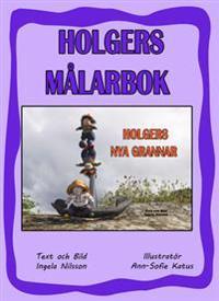 Holgers lila målarbok - Måla med Holgers nya grannar
