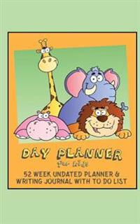 Day Planner for Kids: Day Planner for School with No Dates + to Do List + Writing Journal Pages (Green & Orange / 5x8 Inches)