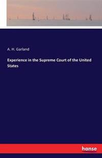 Experience in the Supreme Court of the United States