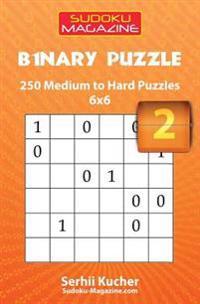 Binary Puzzle - 250 Easy to Medium Puzzles 6x6