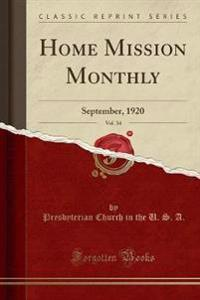 Home Mission Monthly, Vol. 34