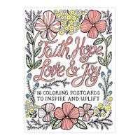 Faith Hope Love & Joy Coloring Postcards