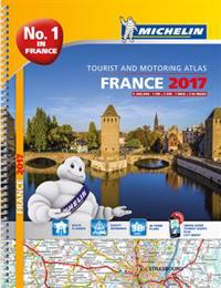 Frankrike 2017 Atlas Michelin A4 : 1:200000