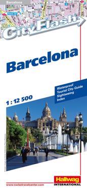 Barcelona City Flash Hallwag stadskarta : 1:12500
