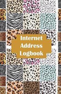 Internet Address Logbook: Internet Address Logbook / Diary / Notebook Animal Print